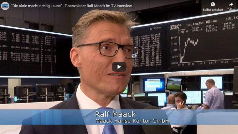 """""""Die Aktie macht richtig Laune"""" – Finanzplaner Ralf Maack im TV-Interview"""